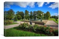 Coalbrookdale Fountain Lurgan Park, Canvas Print
