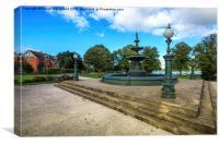 Victoria Fountain Lurgan Park, Canvas Print
