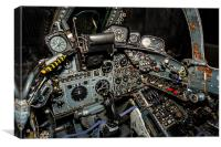 Buccaneer Cockpit, Canvas Print
