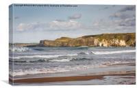 Dunluce Castle and White Rocks, Canvas Print