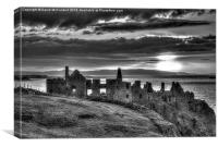 Dunluce Castle mono, Canvas Print