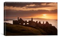 Sunset over Dunluce Castle, Canvas Print