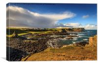 Dunseverick in the sunshine, Canvas Print