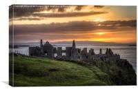Dramatic Dunluce Sunset, Canvas Print