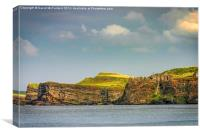 Dunluce Castle on the edge, Canvas Print