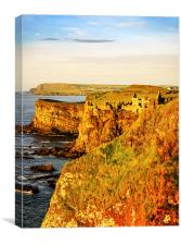 Dunluce Castle evening light, Canvas Print