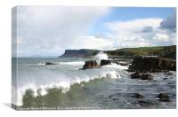 Fair Head, Antrim., Canvas Print