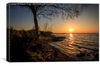 Costa del Neagh, Canvas Print