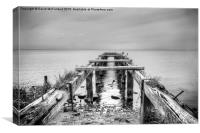 The old pier, Derrytrasna, Canvas Print