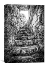 Julie's Staircase, Bonamargy, Canvas Print