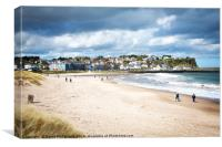 Blustery walk at Ballycastle, Canvas Print