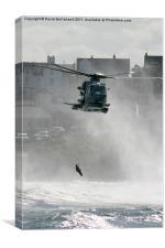 Sea rescue at Portrush, Canvas Print