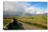 Mourne Mountain Rainbow, Canvas Print