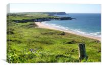 Whitepark Bay County Antrim, Canvas Print