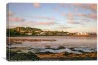 Sunset glow near Dundrum, Canvas Print