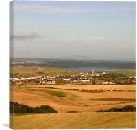 Castlerock evening, Canvas Print