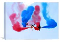 Red Arrows over Portrush, Canvas Print