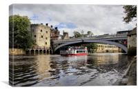 bridge over the river ouse, Canvas Print