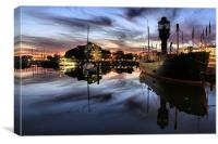 Hull Marina at Dusk, Canvas Print