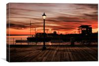 WATERFRONT NIGHT SKY 2011, Canvas Print