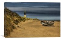 Spurn Point Lighthouse 2012, Canvas Print