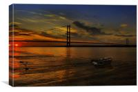 Humber Bridge Sunset 2012, Canvas Print