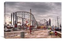 Blackpool Pleasure Beach, Canvas Print