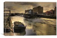 River Hull Dusk  2013, Canvas Print