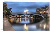 Lendal Bridge York 2013, Canvas Print