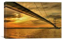 Humber Bridge Dawn 2013, Canvas Print