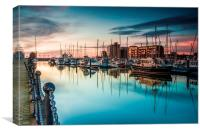 Marina Morning 2014, Canvas Print