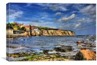 Robin Hoods Bay 2011, Canvas Print
