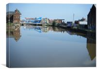 reflections of hull, Canvas Print