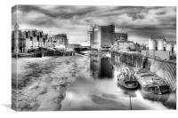 River Hull Dusk  2013, Canvas Print