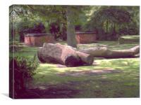 sleepy cemetery, Canvas Print