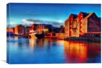 River Hull Dawn 2017, Canvas Print
