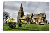 all saints parish church of mappleton, Canvas Print