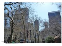 A View from Central Park, Canvas Print