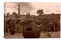 Old mining days, Canvas Print