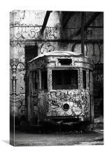 Abandoned transport, Canvas Print