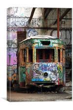 Abandoned Transport colour, Canvas Print