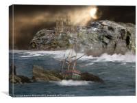 Cornish Wreckers, Canvas Print
