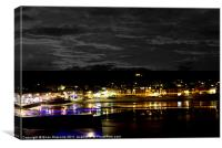 #St Ives Christmas Lights, Canvas Print