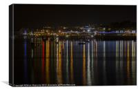 Prince of Wales Pier at Night, Canvas Print