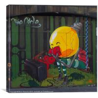 Graffiti Stokes Croft, Canvas Print