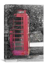 Red Phone Box, Canvas Print