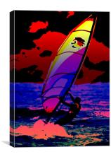 The Wind Surfer, Canvas Print