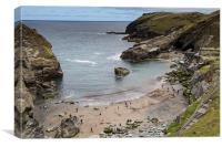 Beach at Tintagel, Canvas Print