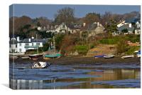 Mill Quay Mylor Bridge, Canvas Print