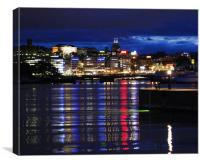 Stockholm: Bright Lights Of The City, Canvas Print